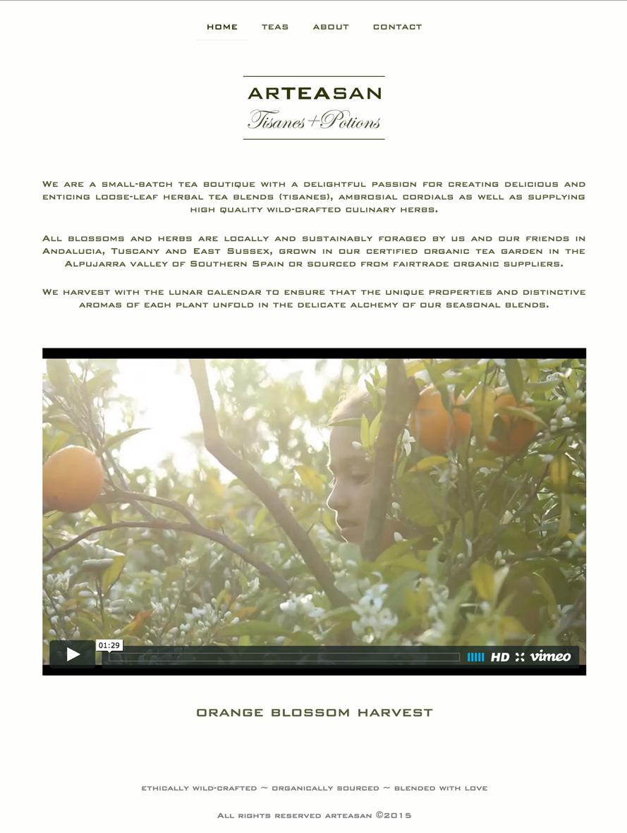 arteasan-webpage